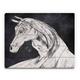 Horse Profile Base Left 20 x 24 Wood Plank Wall Art