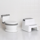 Delta Children Kid Size Potty and Step Stool 2-Piece Set - Realistic Potty and Step Stool Ideal for Potty Training