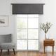 Home Accents Vanderbilt Straight Pleated Window Valance, Charcoal, 50