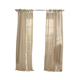 Home Accents Vienna Tie-Top Sheer Window Curtain Panel, Flax, 52