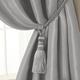 Home Accents Amelia Decorative Tassel Window Curtain Tieback, Silver, 24