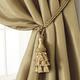 Home Accents Charlotte Decorative Tassel  Window Curtain Tieback, Gold, 24
