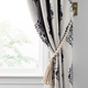 Home Accents Nomad Decorative Wooden Fringe Tassel Window Curtain Tieback, White Wash, 25