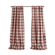 Home Accents Grainger Buffalo Check Blackout Window Curtain Panel, Red, 52