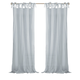 Home Accents Jolie Semi-Sheer Tie Top Window Curtain Panel, Soft Blue, 52