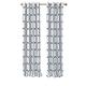 Home Accents Kaiden Geometric Room Darkening Window Curtain Panel, Indigo, 52