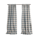 Home Accents Grainger Buffalo Check Blackout Window Curtain Panel, Chambray, 52