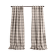 Home Accents Grainger Buffalo Check Blackout Window Curtain Panel, Gray, 52