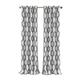 Home Accents Renzo Ikat Geometric Linen Room Darkening Window Curtain Panel, Slate Gray, 52