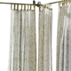 Home Accents Verena Floral Indoor/Outdoor Sheer Tab Top Window Curtain, Sand, 52