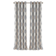 Home Accents Navara Medallion Room Darkening Window Curtain Panel, Gray, 52