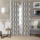 Home Accents Navara Medallion Room Darkening Window Curtain Panel, Black, 52