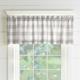 Home Accents Farmhouse Living Buffalo Check Window Valance, Gray/White, 60