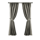 Home Accents Versailles Faux Silk Room Darkening Window Curtain Panel, Gray, 52