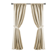 Home Accents Versailles Faux Silk Room Darkening Window Curtain Panel, Ivory, 52