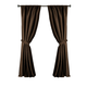 Home Accents Versailles Faux Silk Room Darkening Window Curtain Panel, Chocolate, 52