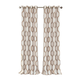 Home Accents Renzo Ikat Geometric Linen Room Darkening Window Curtain Panel, Natural, 52