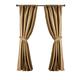 Home Accents Versailles Faux Silk Room Darkening Window Curtain Panel, Gold, 52