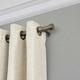 Home Accents Serena Window Drapery Single Curtain Rod, Polished Nickel, 48