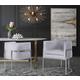 Giselle Giselle Gray Velvet Dining Chair - Silver Frame