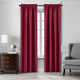 Home accents Colette Faux Silk Blackout Window Curtain Panel, Red, 52