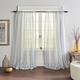 Home accents Hampton Stripe Sheer Window Curtain Panel, Blue, 52