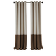 Home accents Braiden Color Block Blackout Window Curtain Panel, Chocolate, 52