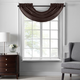 Home accents Colette Faux Silk Waterfall Beaded Window Valance, Chocolate, 42