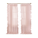 Home accents Bella Tab-Top Ruffle Sheer Window Curtain Panel, Pale Pink, 52