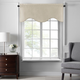 Home accents Colette Faux Silk Scalloped Window Valance, Ivory, 50