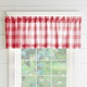 Home Accents Farmhouse Living Buffalo Check Window Valance, Red/White, 60