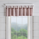 Home Accents Tucker Ticking Stripe Button Tab Top Window Kitchen Valance, Red, 60