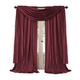 Home accents Athena Faux Silk Window Curtain and Scarf Set, Red, 52