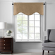 Home accents Colette Faux Silk Scalloped Window Valance, Gold, 50