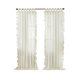 Home accents Bella Tab-Top Ruffle Sheer Window Curtain Panel, Ivory, 52