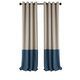 Home accents Braiden Color Block Blackout Window Curtain Panel, Navy, 52
