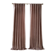 Home accents Carnaby Distressed Velvet Window Curtain Panel, Taupe, 50