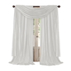 Home accents Athena Faux Silk Window Curtain and Scarf Set, White, 52