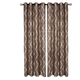 Home accents Medalia Room Darkening Geometric Window Curtain, Mocha, 52