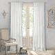 Home accents Bianca Sheer Window Curtain Panel with Tassels, Blue, 52