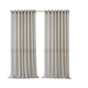 Home accents Carmen Sheer Extra Wide Indoor/Outdoor Window Curtain with Tieback, Natural, 114