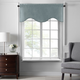 Home accents Colette Faux Silk Scalloped Window Valance, Mineral, 50