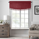Home Accents Vanderbilt Scallop Tassel Window Valance, Red, 50