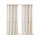 Home accents Carmen Sheer Extra Wide Indoor/Outdoor Window Curtain with Tieback, Ivory, 114