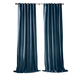 Home accents Carnaby Distressed Velvet Window Curtain Panel, Denim, 50