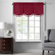 Home accents Colette Faux Silk Tassel Scallop Window Valance, Red, 48