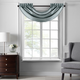 Home accents Colette Faux Silk Waterfall Beaded Window Valance, Mineral, 42