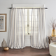 Home accents Hampton Stripe Sheer Window Curtain Panel, Gray, 52