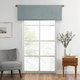 Home Accents Vanderbilt Straight Pleated Window Valance, River Blue, 50