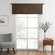 Home Accents Vanderbilt Straight Pleated Window Valance, Chocolate, 50